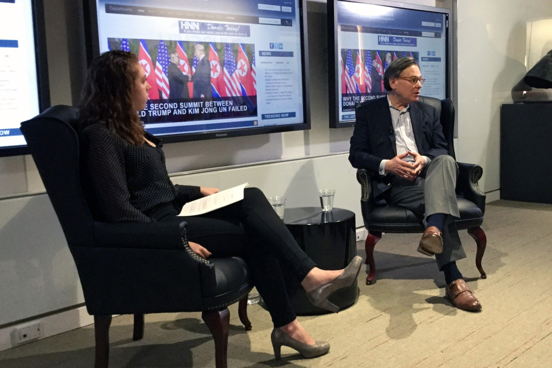 History News Network editor-in-chief Kyla Sommers sat down with Sydney Blumenthal at a launch event celebrating the department's acquisition of HNN in April 2019.